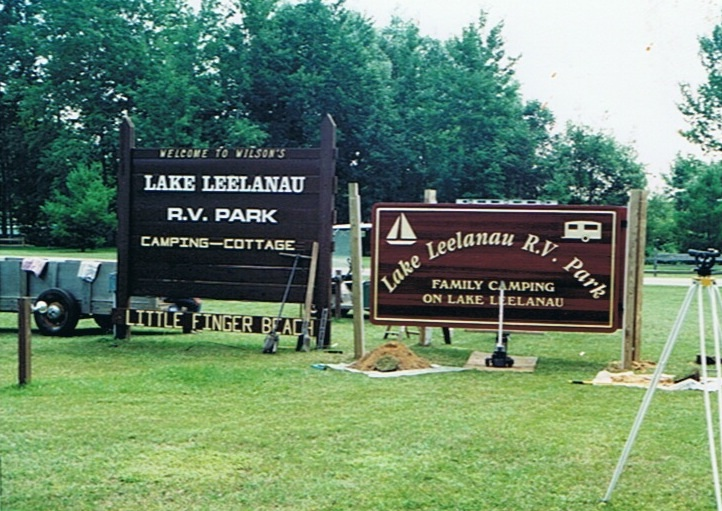 Changing from Little Finger Beach to Lake Leelanau RV Park.