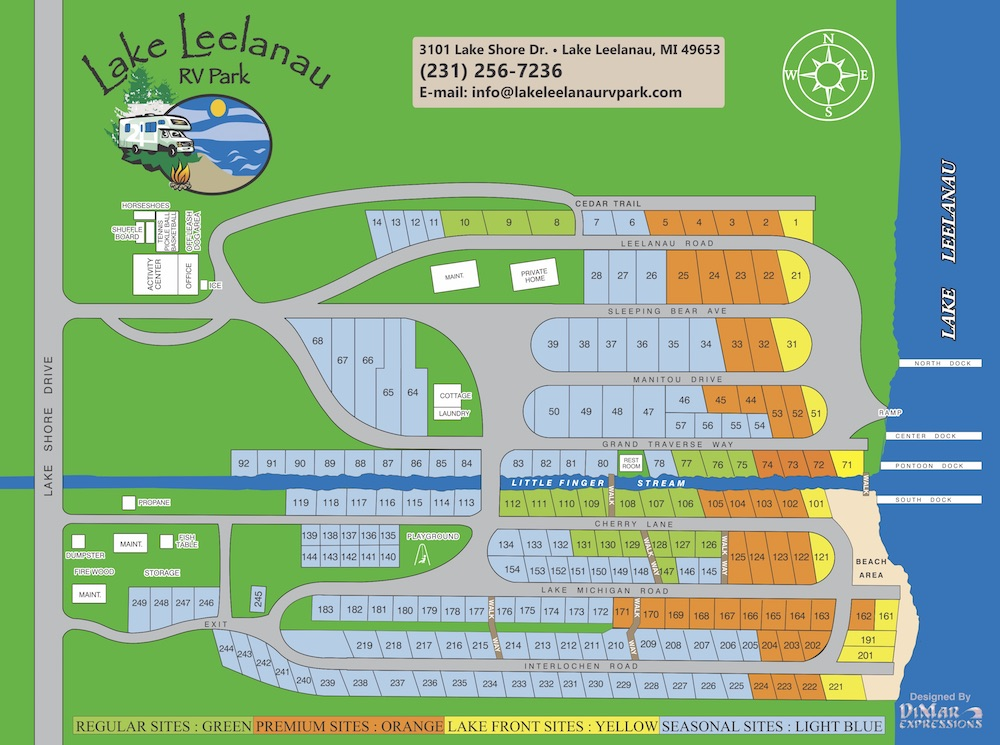Lake Leelanau RV Park Map