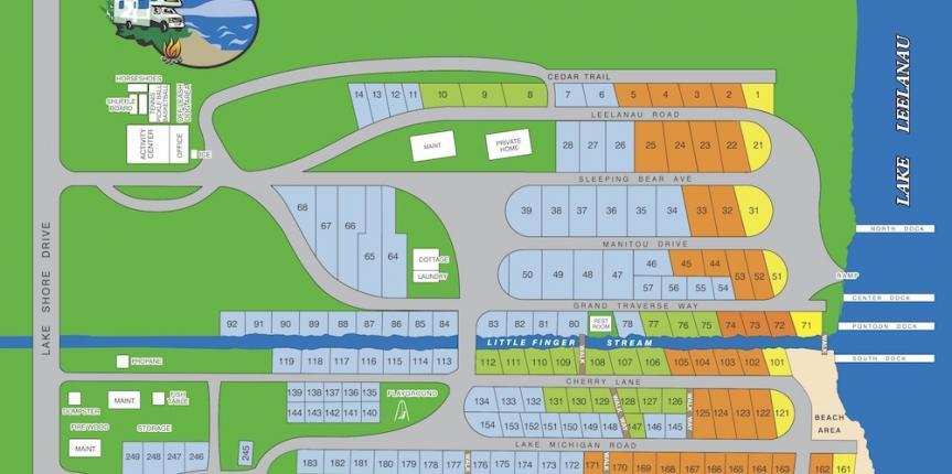 Lake Leelanau RV Park Map