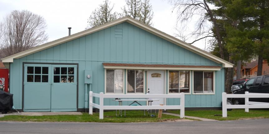 Front of newly renovated 2 bedroom cottage