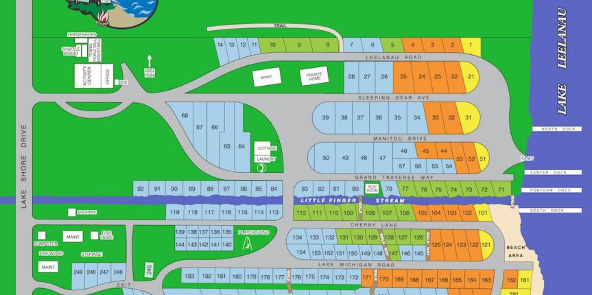 Lake Leelanau RV Park Site Map